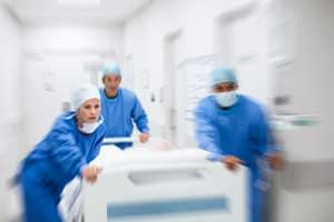 Trauma patient going to surgery